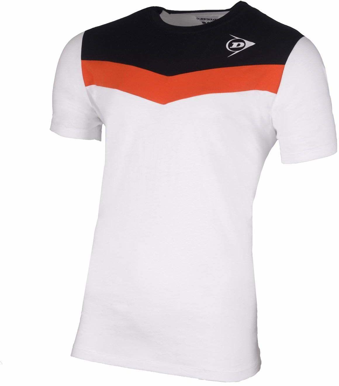 Dunlop Dziecięca koszulka 72259-140 Essentials Crew biała/antracytowa, 140