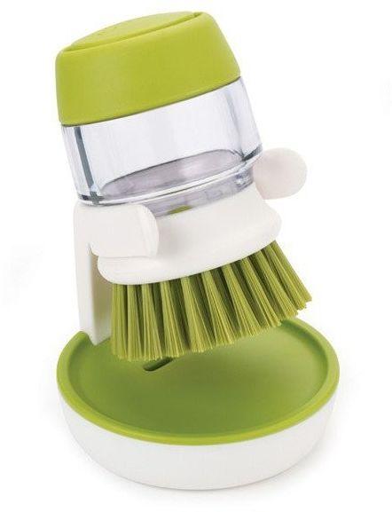 Joseph joseph - szczotka do mycia naczyń z pompką - zielona - zielony biały