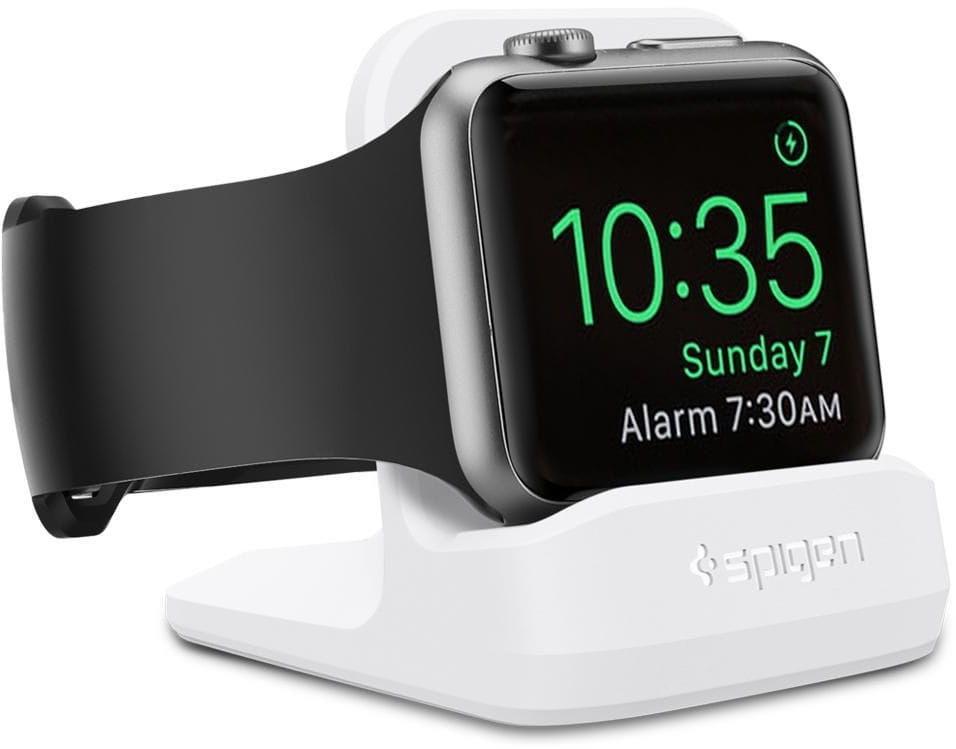 Podstawka do ładowarki Apple Watch 5/4/3/2/1 Spigen S350 Night Stand White - Outlet