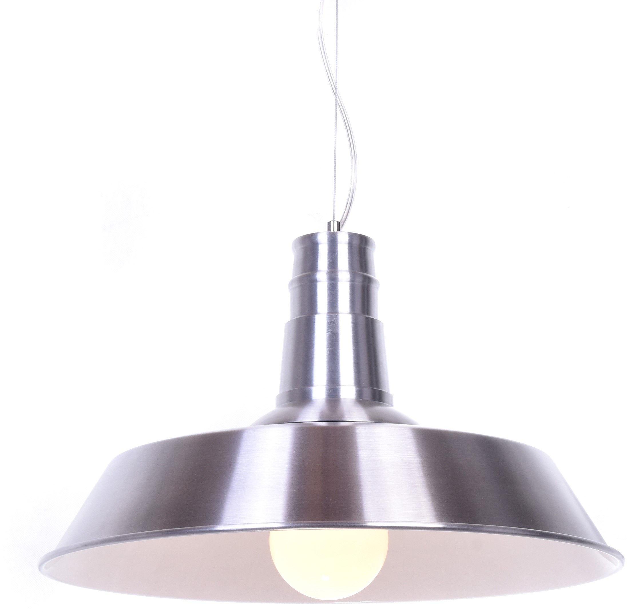 LAMPA WISZĄCA INDUSTRIALNA SREBRNA SAGGI