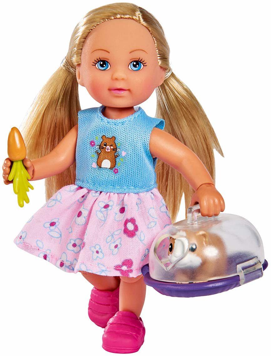 Simba 105733485  Evi Love Doktor Evi świnka morska / Evi idzie do weterynarzy / ze świnką morską i pudełkiem transportowym / z marchewką / lalką do przebierania / 12 cm, dla dzieci od 3 roku życia