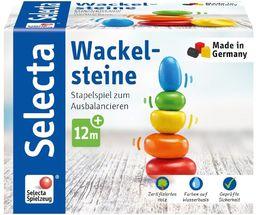 Selecta 62009 Wackelsteine, drewniana zabawka do układania, 6 cm