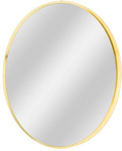 Lustro okrągłe Dubiel Vitrum Nico 70 cm w ramie złote