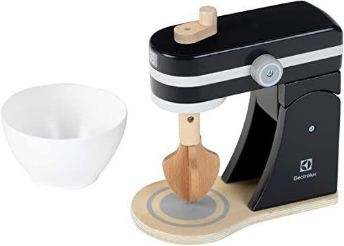 Theo Klein 7405 Electrolux robot kuchenny, drewno I funkcja miksowania i mieszania I akcesoria do kuchni zabawkowej wymiary: 19 cm x 9 cm x 17 cm I zabawka dla dzieci od 3 lat, kolorowy