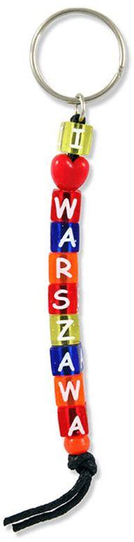 Brelok kostki napis Warszawa