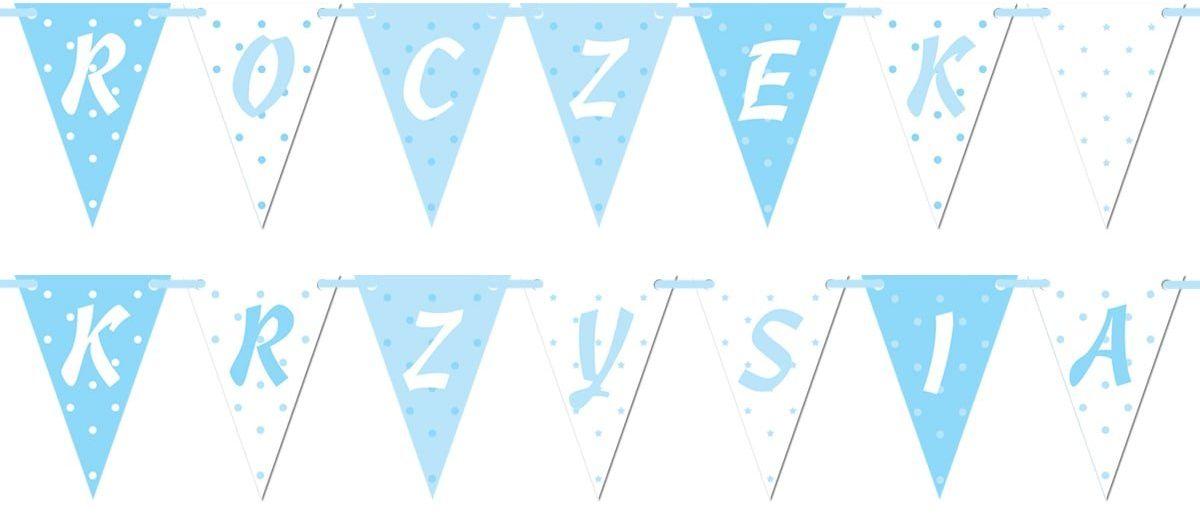 Baner flagi personalizowany na roczek chłopca - 5 m
