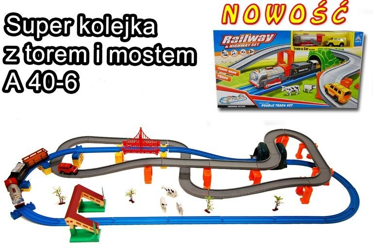 KOLEJKA Z MOSTEM+TOR+TUNEL NOWOŚĆ/A40-6
