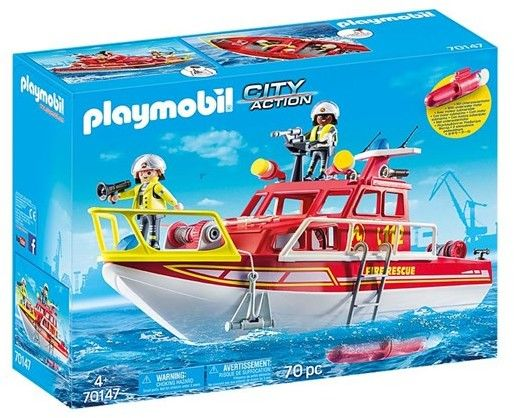 Playmobil - Łódź ratownicza straży pożarnej 70147