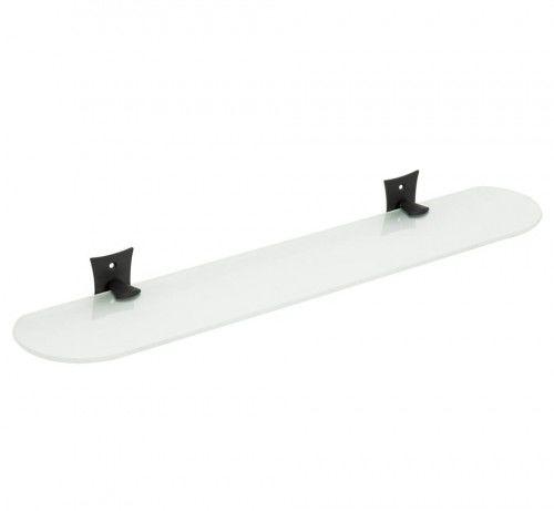 Czarny/szkło mleczne półka retro 560x113mm,REBECCA