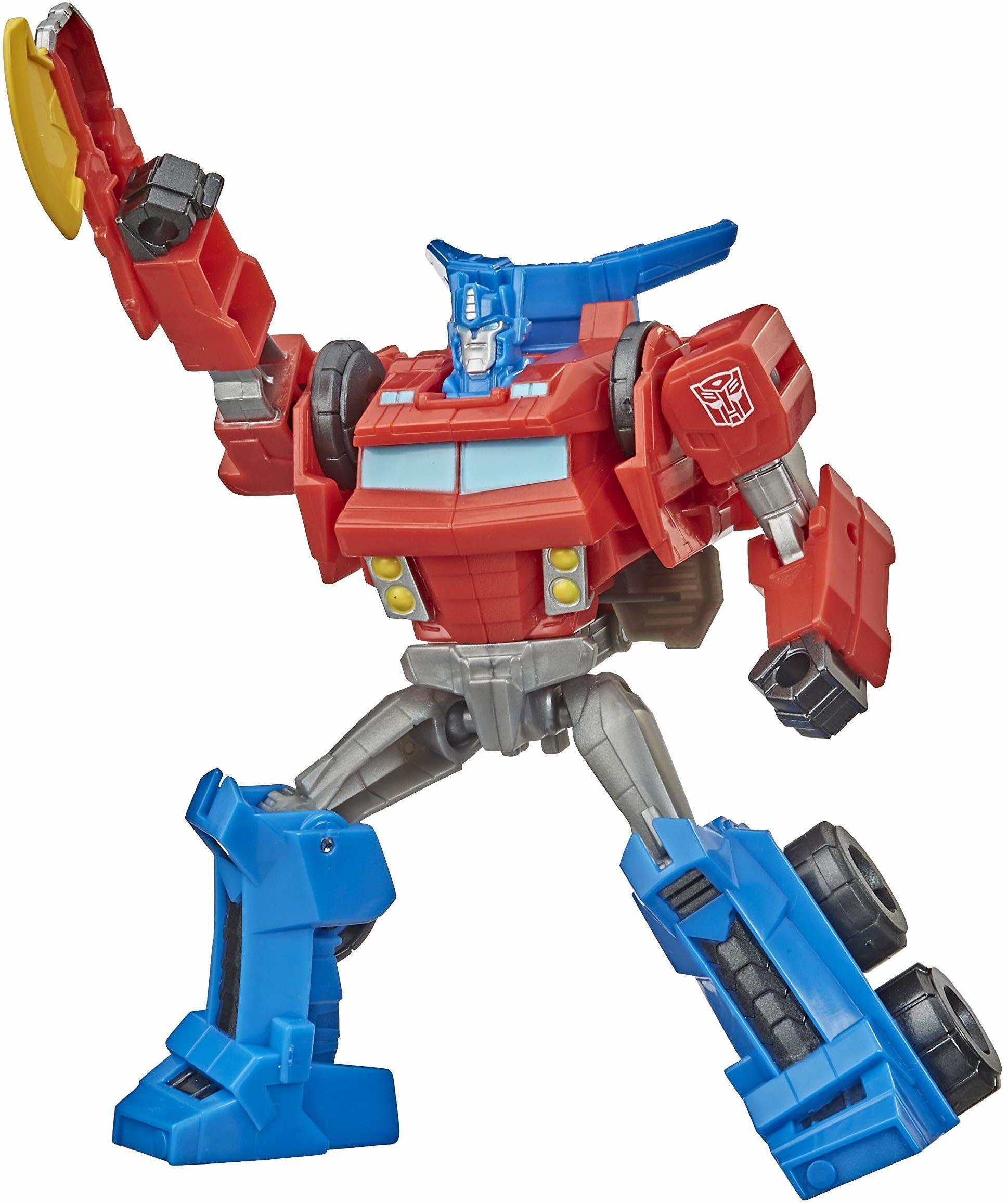 Transformers Bumblebee Cyberverse Adventures Warrior Class Optimus Prime figurka zabawka, powtarzalny ruch ataku, wiek 6 lat i góry, 13,7 cm