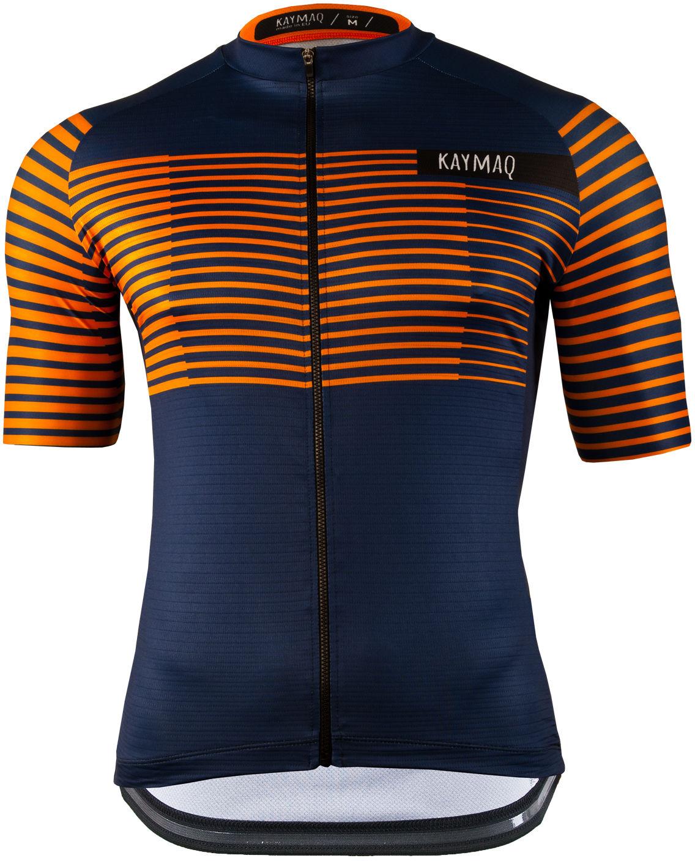 KAYMAQ M66 RACE męska koszulka rowerowa z krótkim rękawem pomarańczowy Rozmiar: L,M66racepom