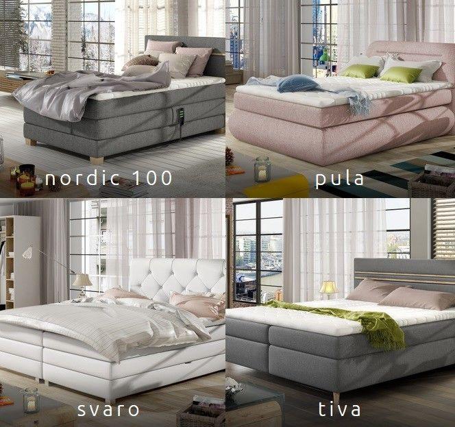 Łóżko kontynentalne Nordic Wersal 140X200, 160X200,180x200 cm
