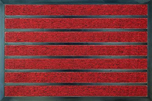 ID Matt 609004 combi'' chłonny dywan wycieraczka z włókna polipropylenu/PCW czerwony 80 x 60 x 1,1 cm