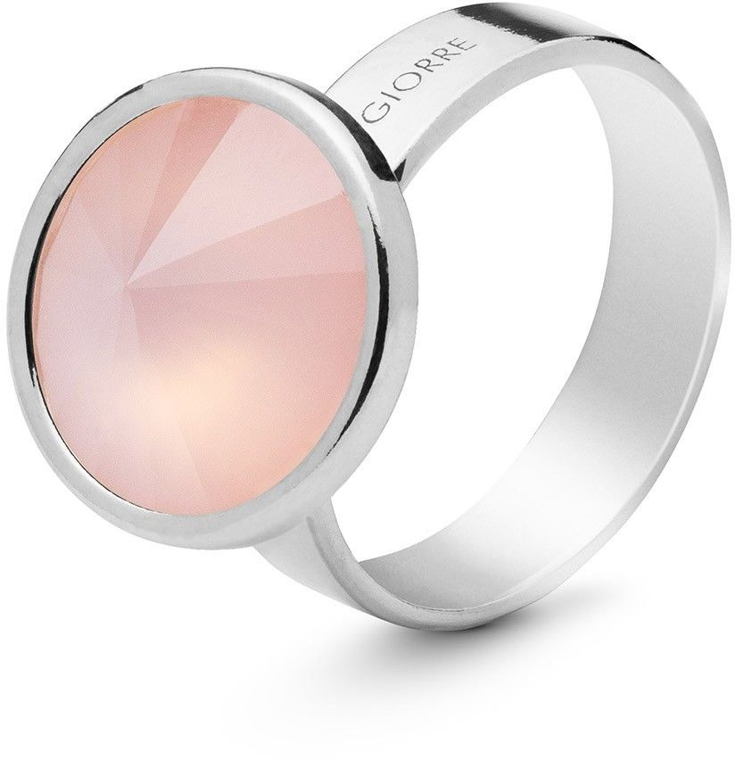 Srebrny pierścionek z kwarcem, srebro 925 : Kamienie naturalne - kolor - kwarc różowy antyczny, ROZMIAR PIERŚCIONKA - 19 UK:S 18,67 MM, Srebro - kolor pokrycia - Pokrycie platyną