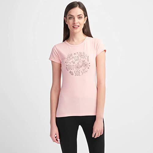 Hi-Tec Lady Anemone T-shirt damski różowy Impatiens Pink Melange X-S