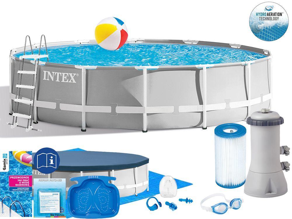 Basen Intex 427x107 Ogrodowy Stelażowy 26720 15w1
