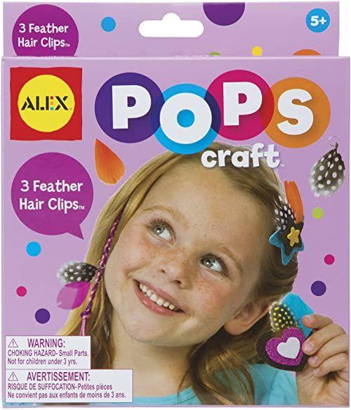 ALEX Zabawki spinki do włosów z piórami POPS Craft (3 sztuki)