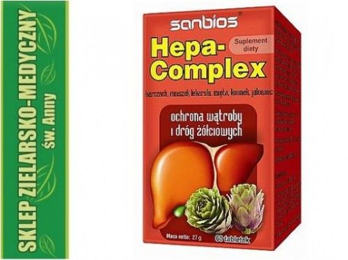 HEPA-COMPLEX 60 tabletek Ochrona wątroby