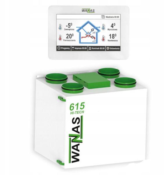 Rekuperator WANAS 615V Hi-Tech + montaż