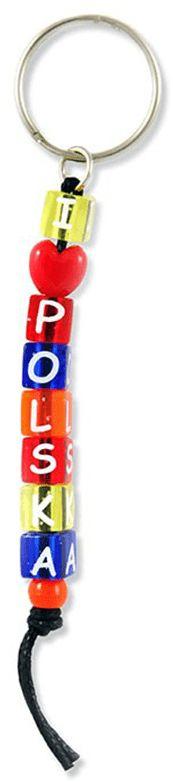 Brelok kostki napis Polska