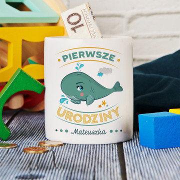 Wieloryb - Skarbonka Personalizowana
