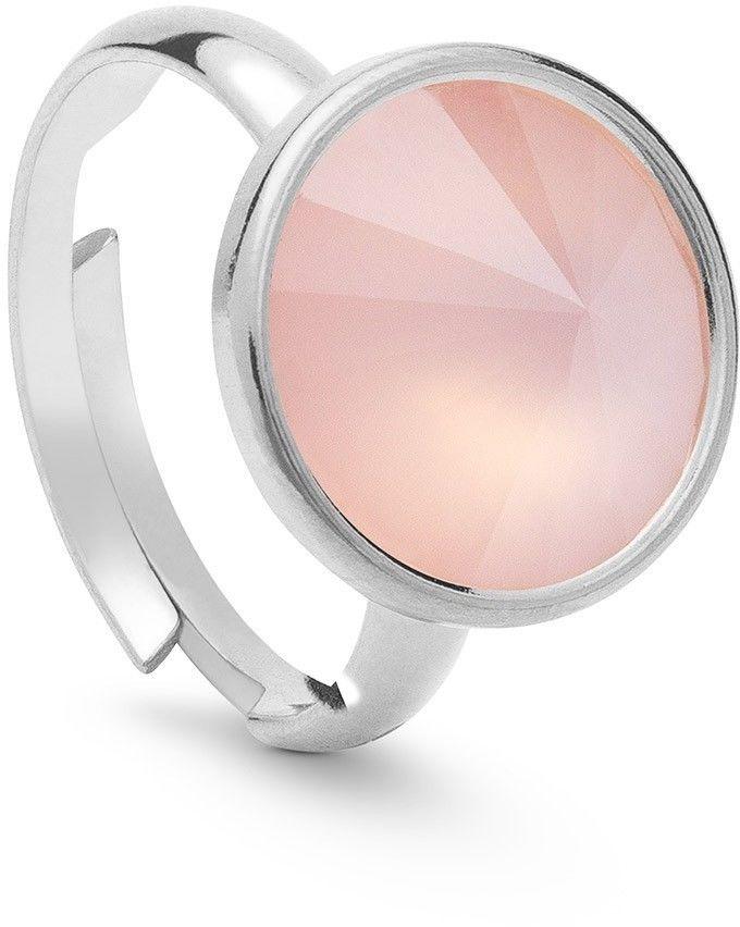 Srebrny pierścionek z kwarcem, srebro 925 : Kamienie naturalne - kolor - kwarc różowy antyczny, ROZMIAR PIERŚCIONKA - Uniwersalny - (min. 11 - 16,00 MM / max. 18 - 18,33 MM), Srebro - kolor pokrycia -