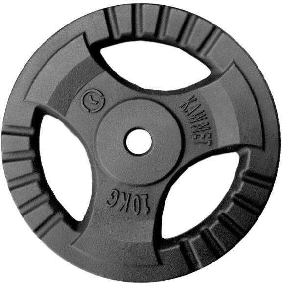 Obciążenie żeliwne do sztangi grafitowe (28,5 mm) 10 kg