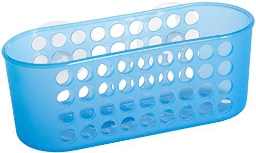 Home kosz do przechowywania z przyssawkami, 7 x 18 cm, tworzywo sztuczne, niebieski