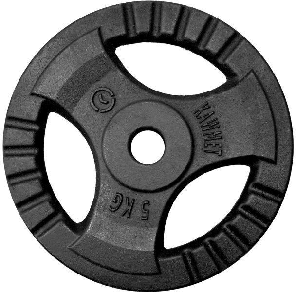 Obciążenie żeliwne do sztangi grafitowe (28,5 mm) 5 kg