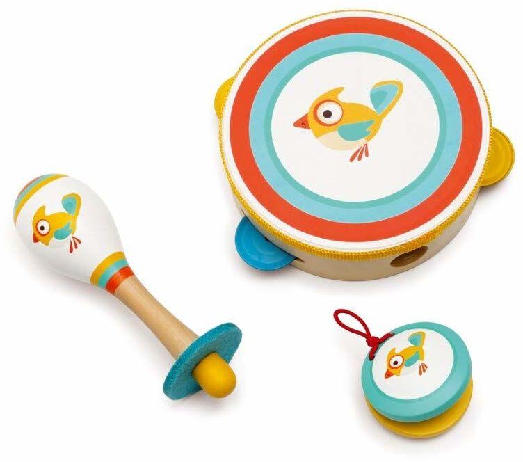 SCRATCH 276181831 zestaw muzyczny Vogel Robin, instrumenty muzyczne dla dzieci, w tym marakasy, tamburyn i kastaniety