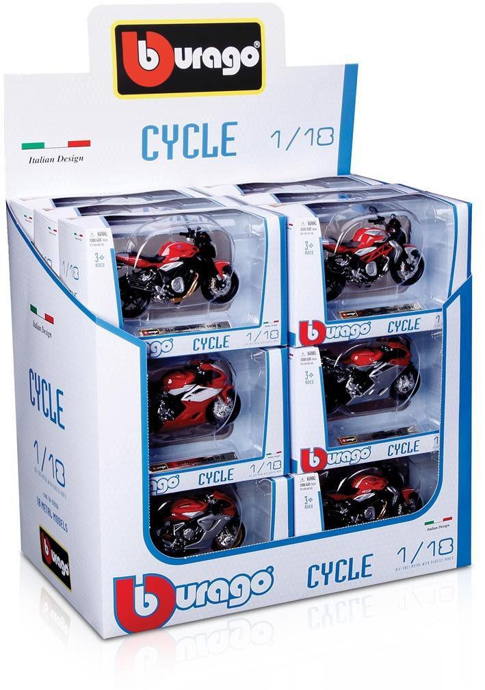 Motocykl metalowy Mix 1:18 BBURAGO 51000