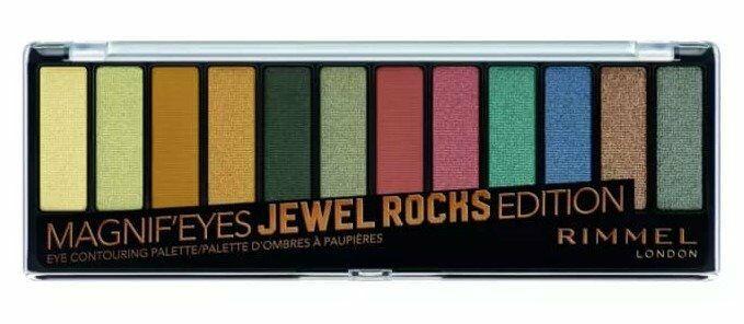 Rimmel palette Magnif''eyes JEWEL ROCKS edition Paleta 12 cieni do powiek