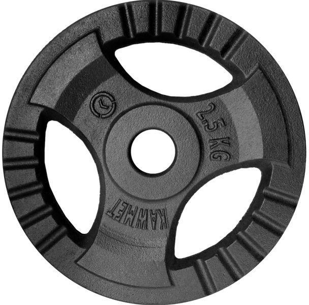 Obciążenie żeliwne do sztangi grafitowe (28,5 mm) 2,5 kg