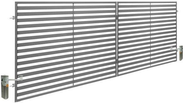 Brama dwuskrzydłowa z automatem Polbram Steel Group Brava 350 x 150 cm