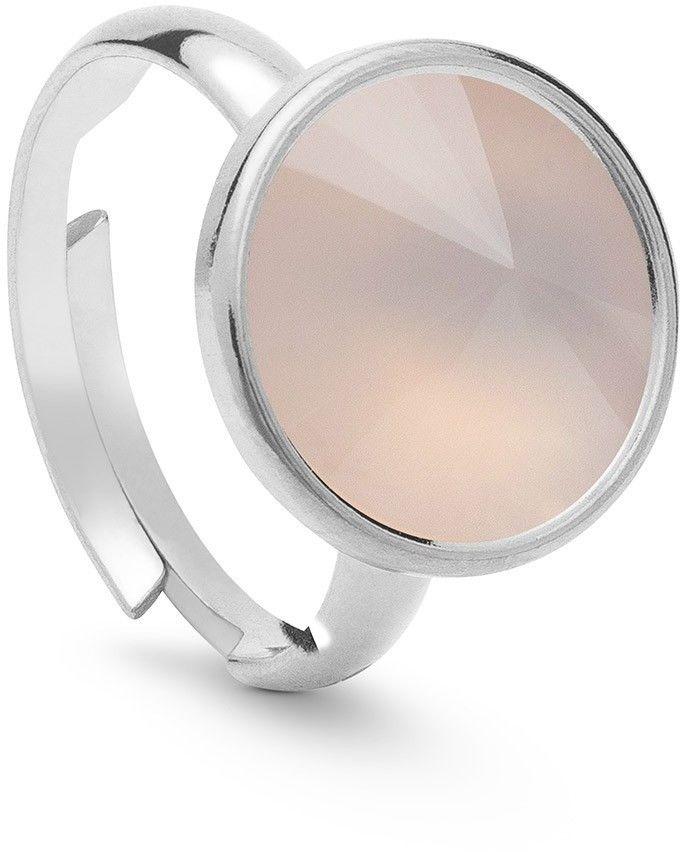 Srebrny pierścionek z kwarcem, srebro 925 : Kamienie naturalne - kolor - kwarc różowy jasny, ROZMIAR PIERŚCIONKA - Uniwersalny - (min. 11 - 16,00 MM / max. 18 - 18,33 MM), Srebro - kolor pokrycia - Po
