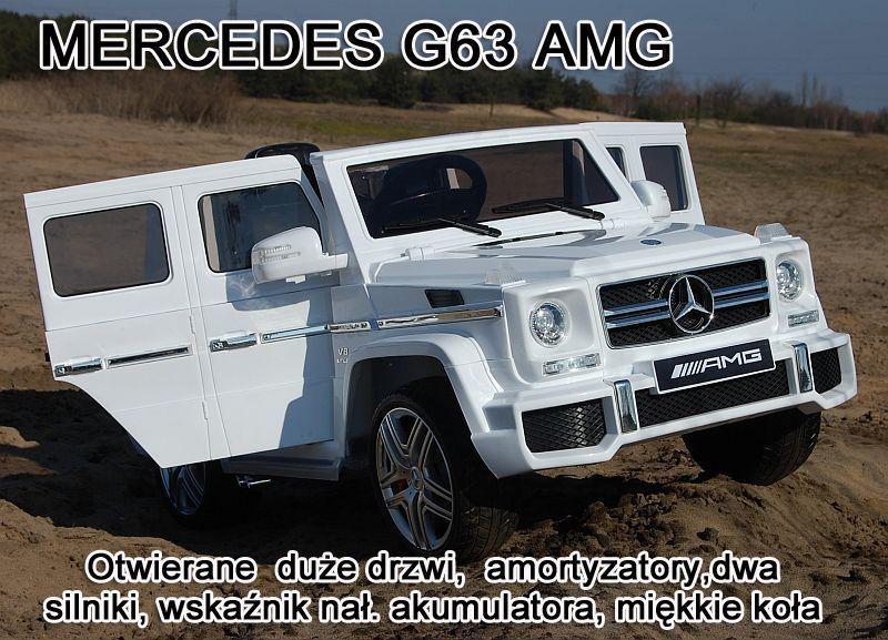 MERCEDES G63 AMG DWA SILNIKI, OTWIERA DRZWI MOCNY/HL168