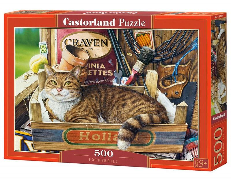Puzzle 500 elementów Kot w pudełku Fothergill