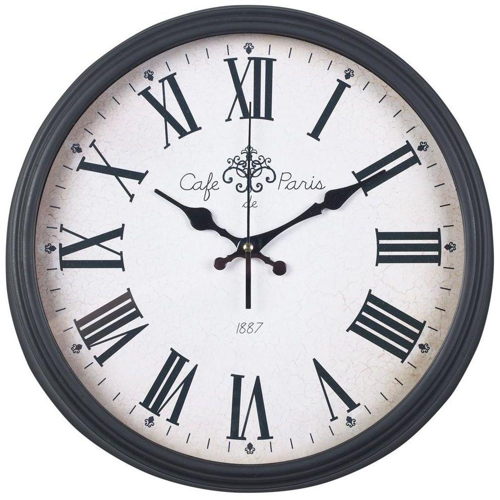Zegar ścienny LZE-16 śr. 38 cm czarny