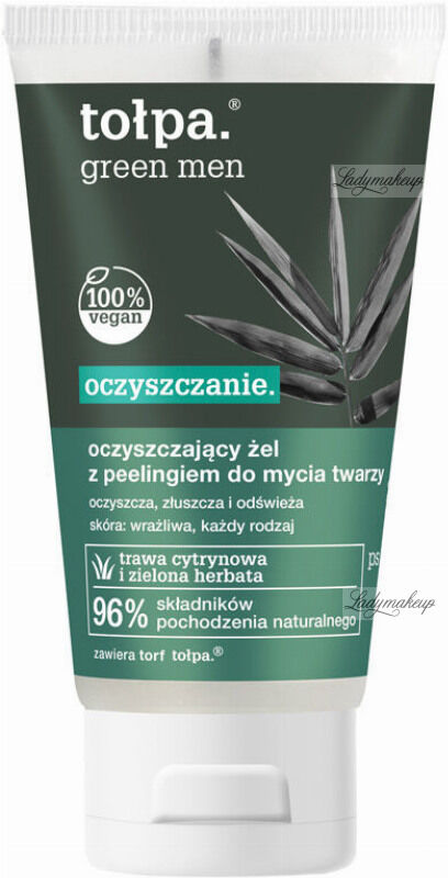 Tołpa - Green Men - Oczyszczający żel z peelingiem do mycia twarzy dla mężczyzn - 150 ml