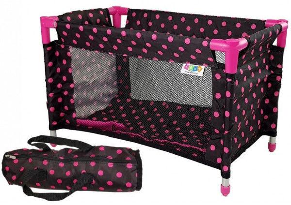 Łóżko dla Lalek Alice Czarno-Różowe