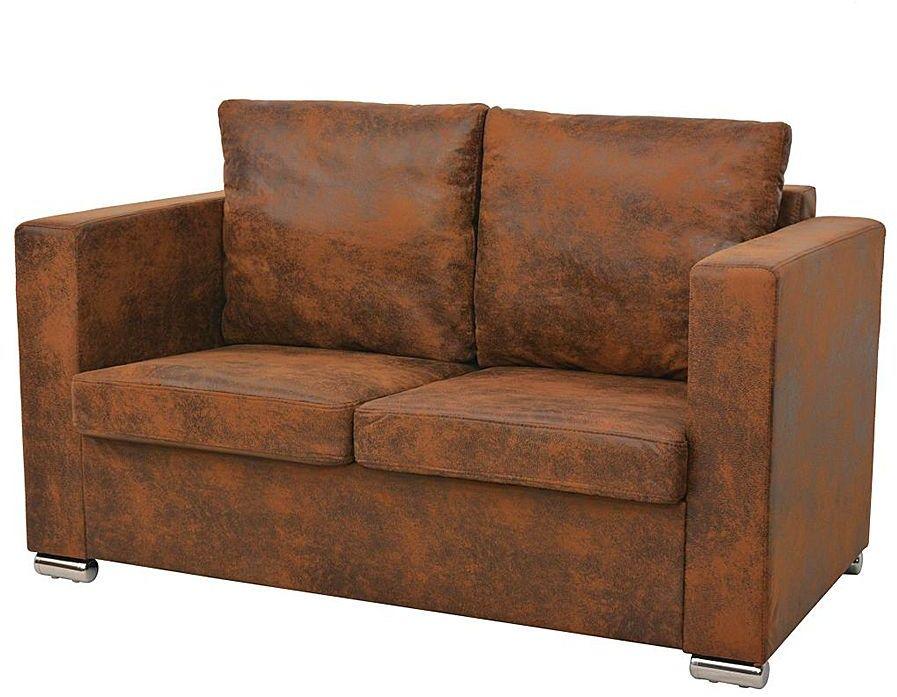 Przytulna brązowa sofa dwuosobowa - Vela 2Q