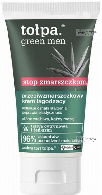 Tołpa - Green Men - Przeciwzmarszczkowy krem łagodzący do twarzy dla mężczyzn - 50 ml