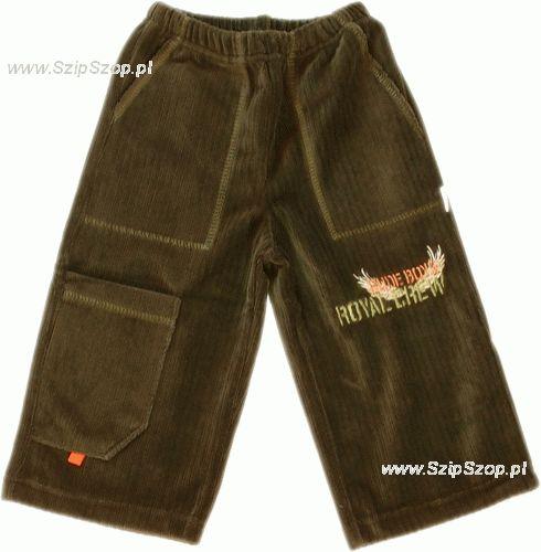 Spodnie dresowe welurowe dla dzieci zielone