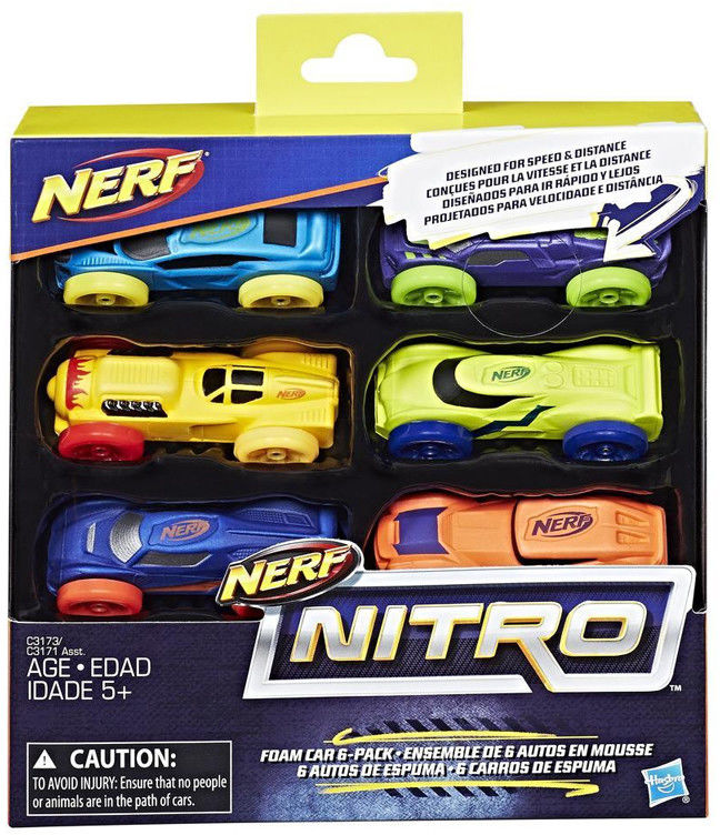 Hasbro Nerf Nitro - 6-pak samochodów Ner Nitro C1373