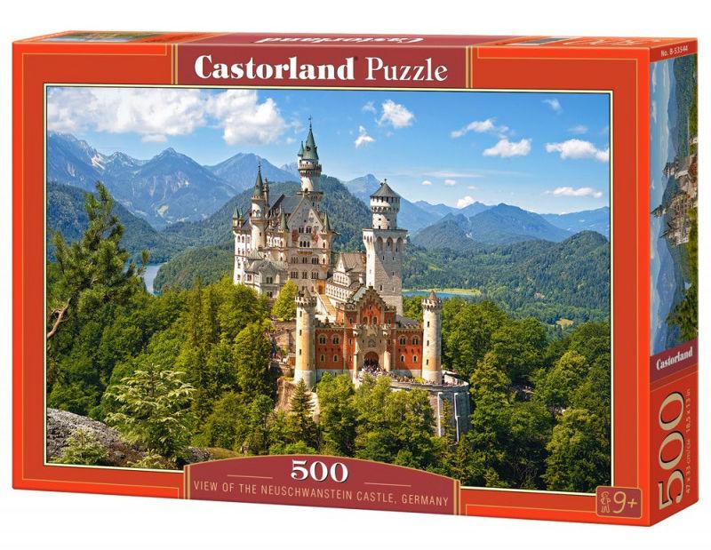 Puzzle 500 elementów Widok na zamek Neuschwanstein Niemcy