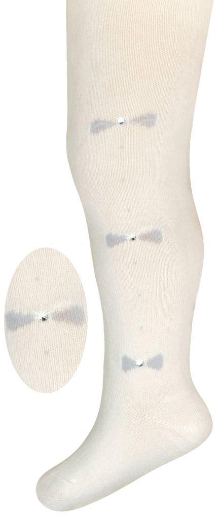 rajstopy bawełniane milusie jety eleganckie białe wzór4 Model 15