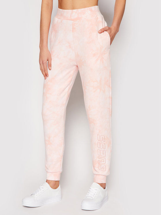 Guess Spodnie dresowe O1GA38 K68I1 Różowy Regular Fit