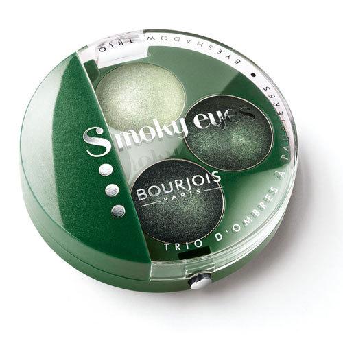 Bourjois Smoky Eyes 08 Vert Trendy Potrójne cienie do powiek - 4,5g Do każdego zamówienia upominek gratis.