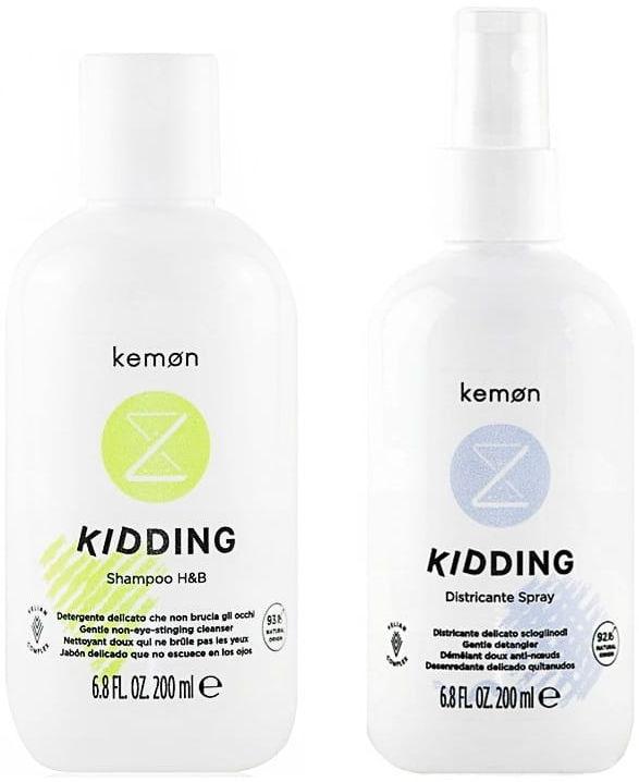 Kemon Kidding zestaw dla dzieci szampon + spray 2x200ml