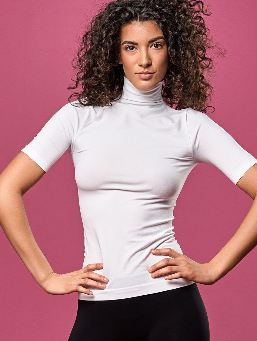Koszulka Damska Termoaktywna z Golfem krótki rękaw
